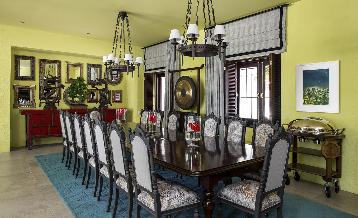dining room feature wall green dining room feature wall an eccentric formal dining room juxtaposing elements of mexican mirror chinese server and victorian mahogany mexican breakfast conservatory themed breakfast